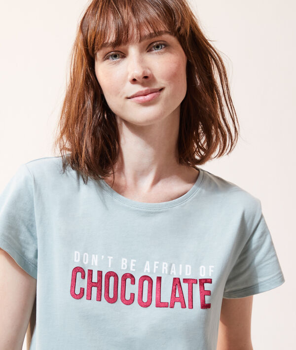 """T-shirt """"Don't be afraid of chocolate"""";${refinementColor}"""