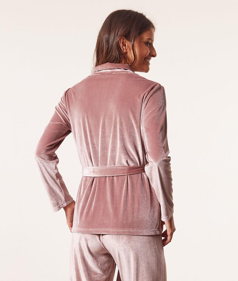 Pyjamahemd zum Binden aus Frotteesamt;${refinementColor}