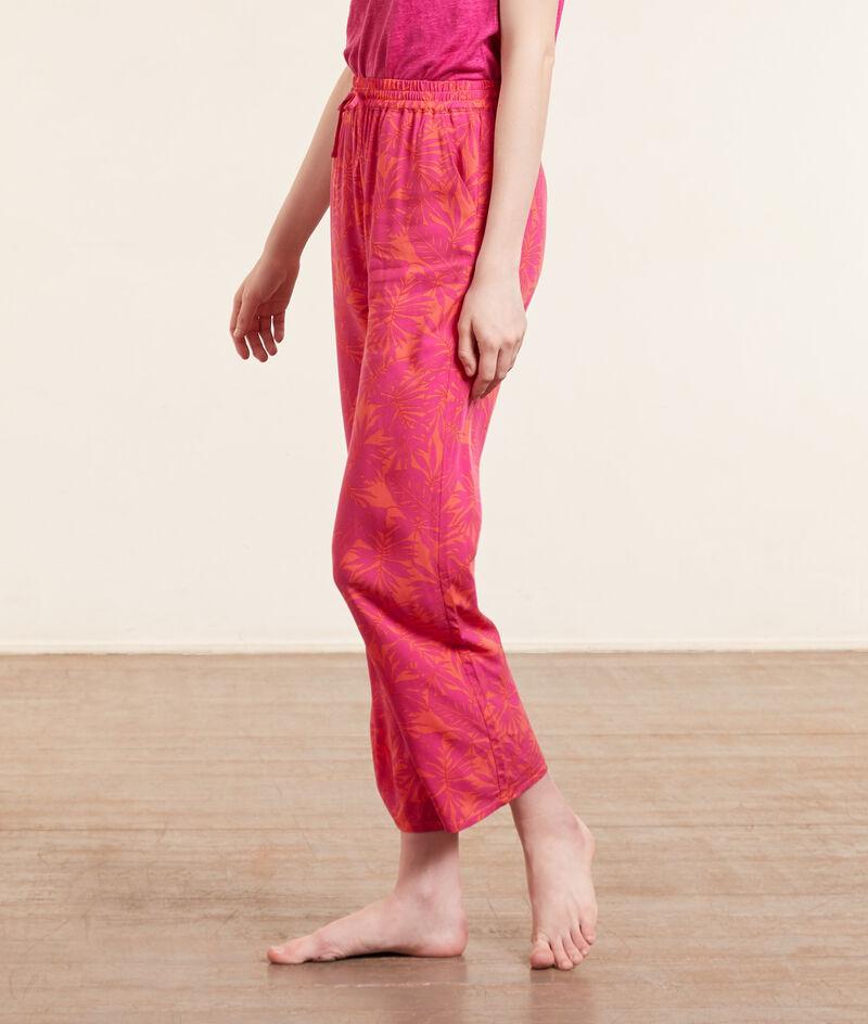 Pantalon de pyjama 7/8è imprimé;${refinementColor}