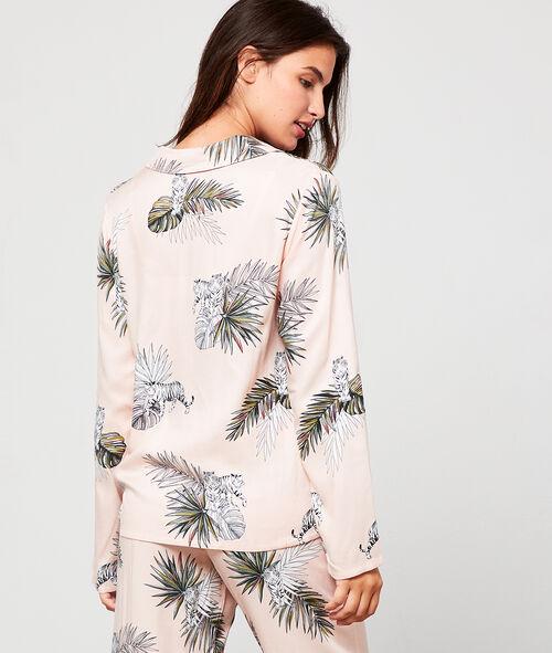 Chemise de pyjama imprimée jungle