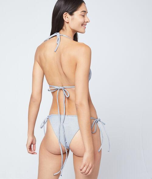 Bas de bikini à nouer, matiéré