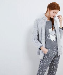 Pyjama trois pièces nounours gris.