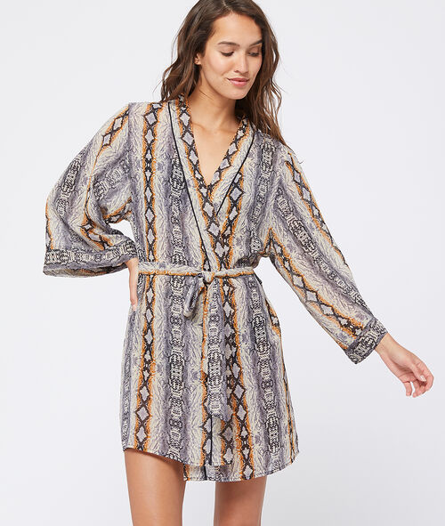 Kimono imprimé ethnique