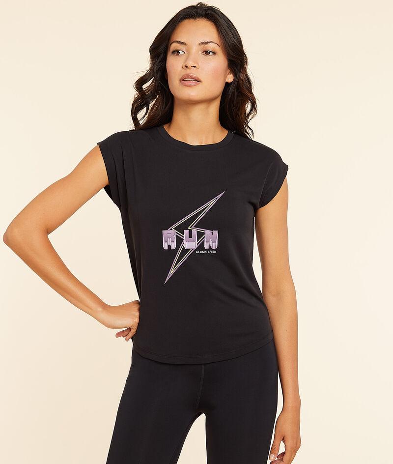 """T-shirt manches-courtes """"Run"""";${refinementColor}"""