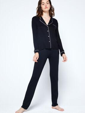 Pyjamaoberteil schwarz.