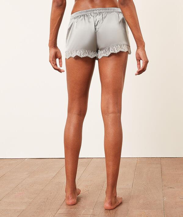 Seidige Shorts mit Spitzensaum;${refinementColor}