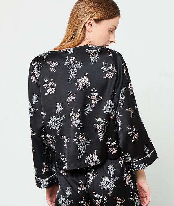 Chemise de pyjama cache-coeur