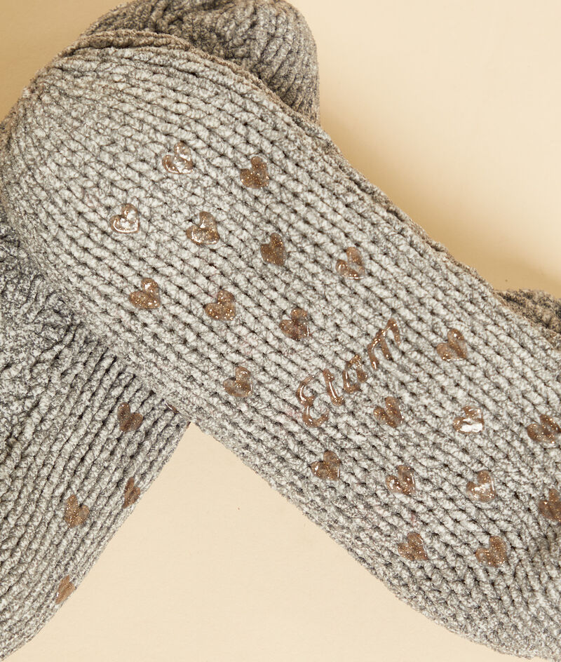 Chaussettes antidérapantes maille torsadée;${refinementColor}