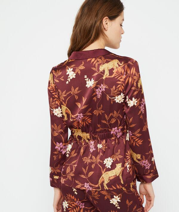Pyjamaoberteil mit Leoparden-Print;${refinementColor}