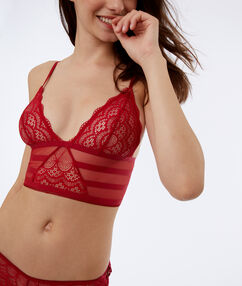 Triangle dos corset rouge.