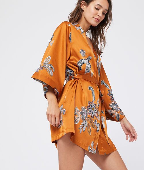 Kimono satiné imprimé