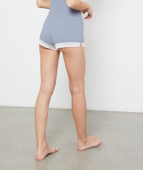Shorts mit Spitzensaum;${refinementColor}