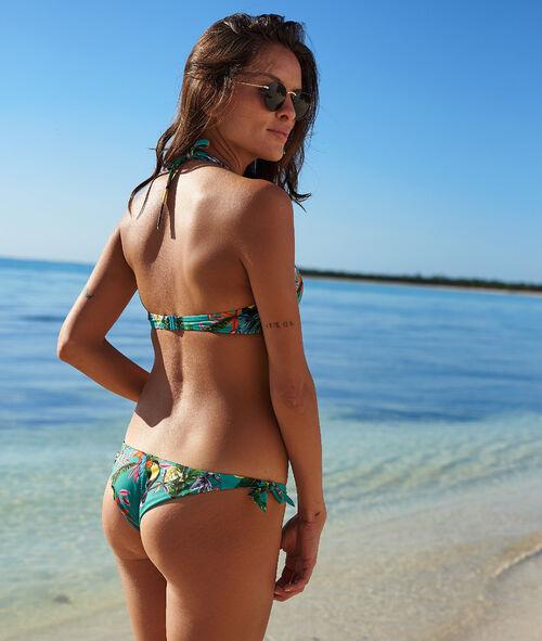 Brazilian-Bikiniunterteil, tropischer Print