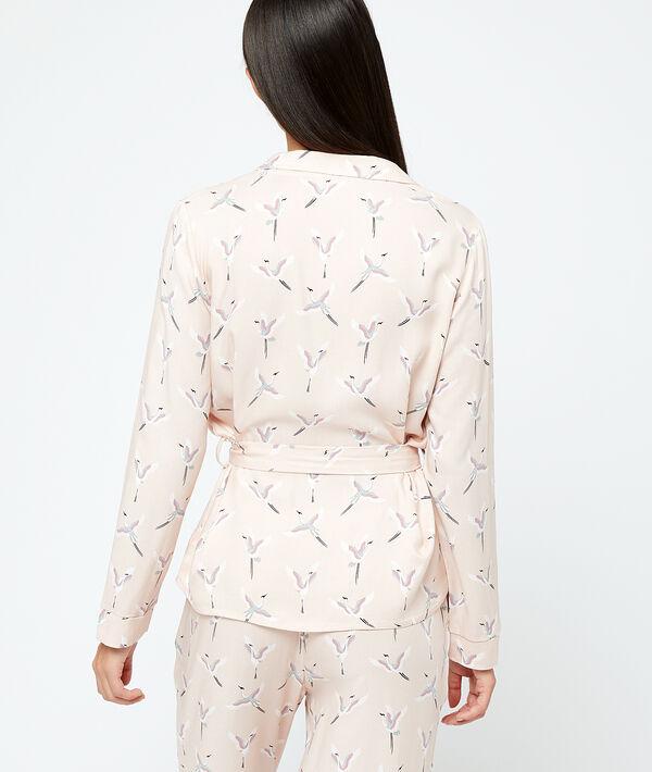 Chemise de pyjama oiseaux;${refinementColor}