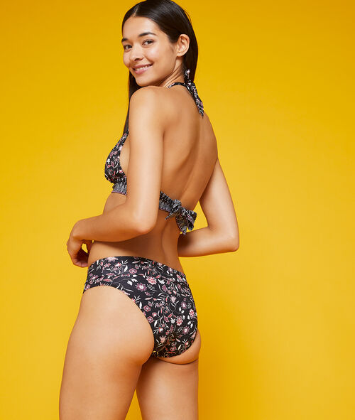 Variabel tragbares Bikiniunterteil, floraler Print