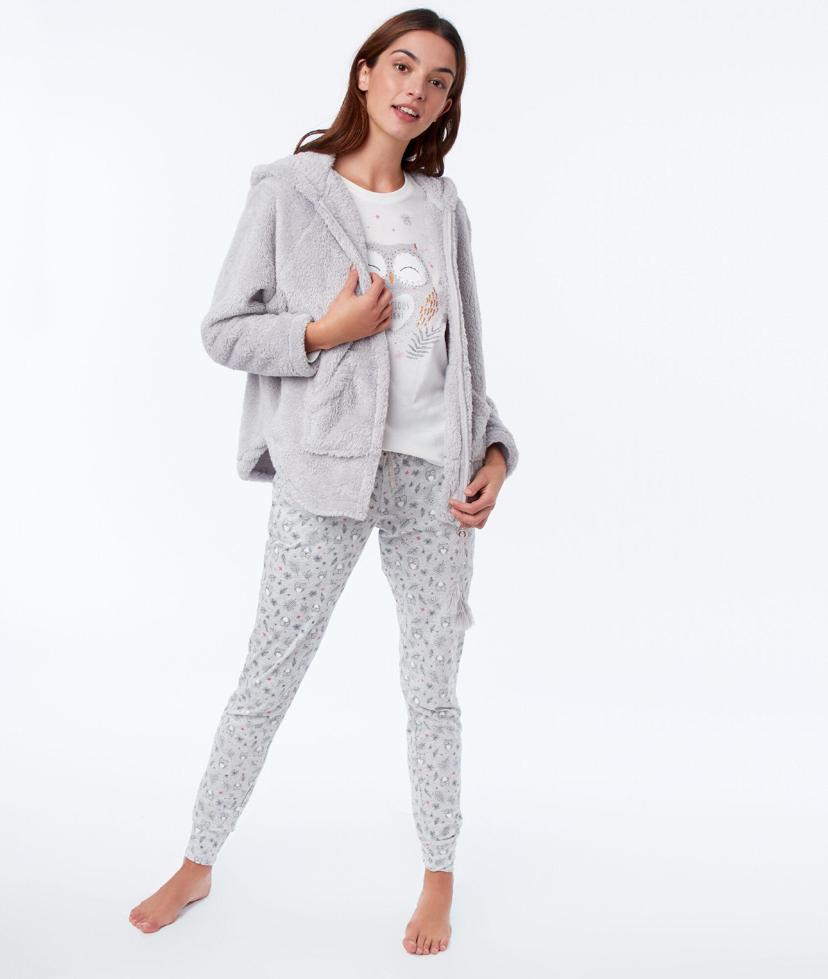 économiser plutôt sympa meilleur prix pour Pyjama trois pièces hibou - MAGIC - GRIS - Etam