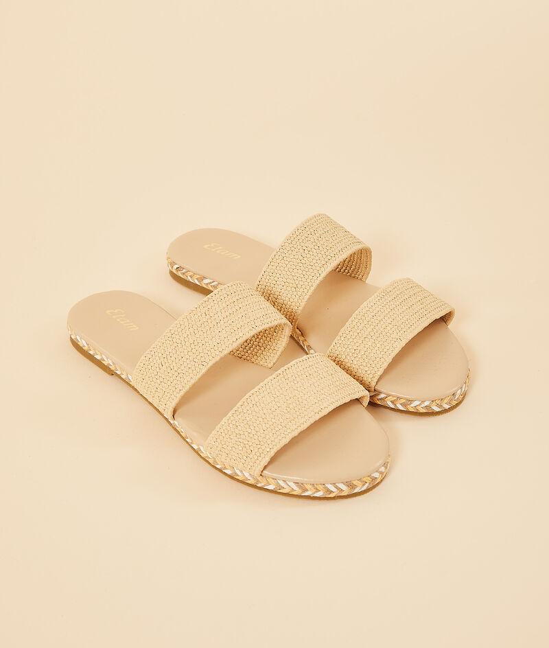 Sandales effet paille;${refinementColor}