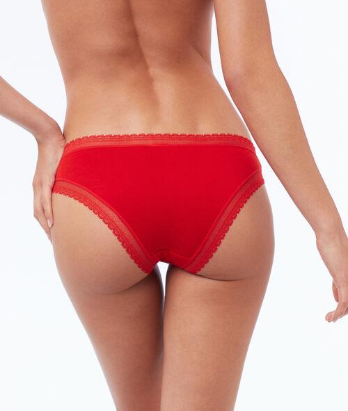 Weiche Panty aus Modal mit Spitzensaum