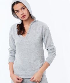 Sweat chiné homewear gris.