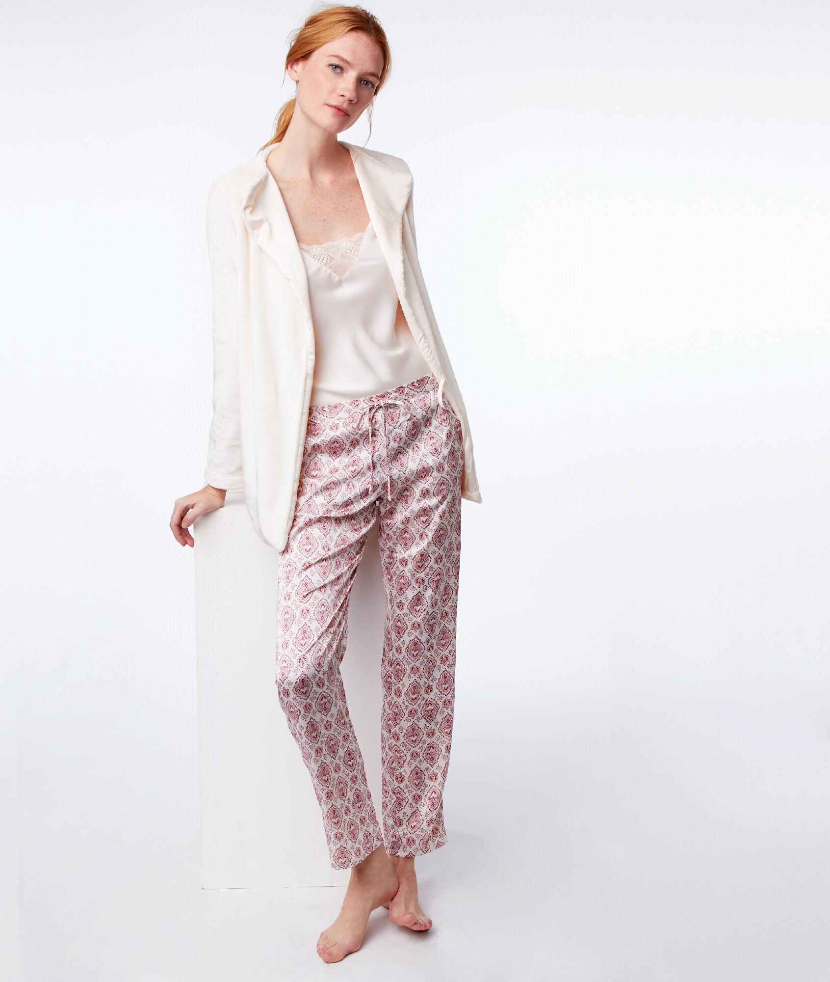 vente en ligne moitié prix détails pour Pyjama Etam Iona 3 Pièces Ecru wOZXuTPki