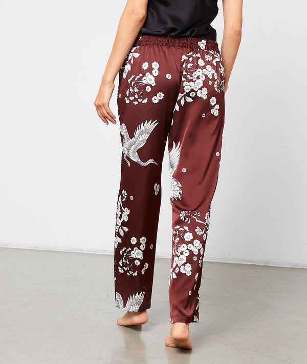 Seidig schimmernde Hose mit Print