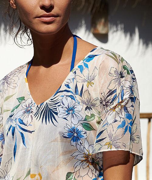 Tunique de plage, imprimé floral