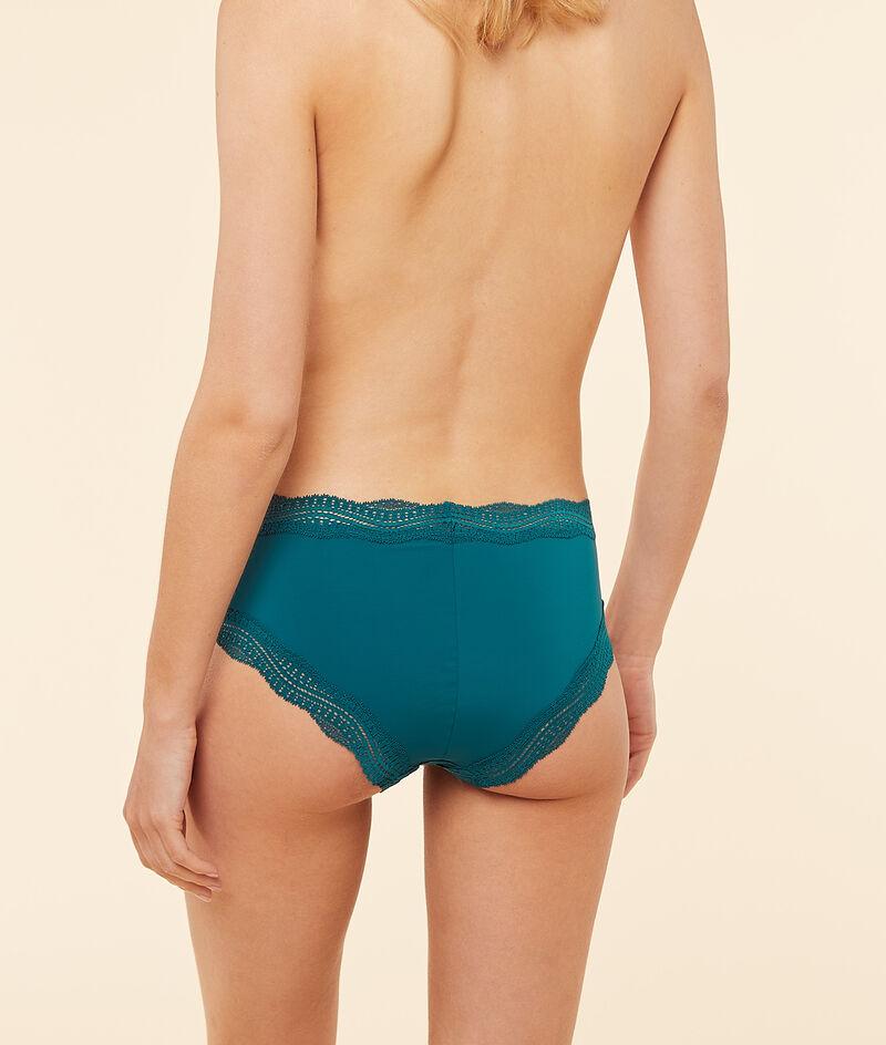 Shorts aus Mikrofaser, Spitzensaum;${refinementColor}