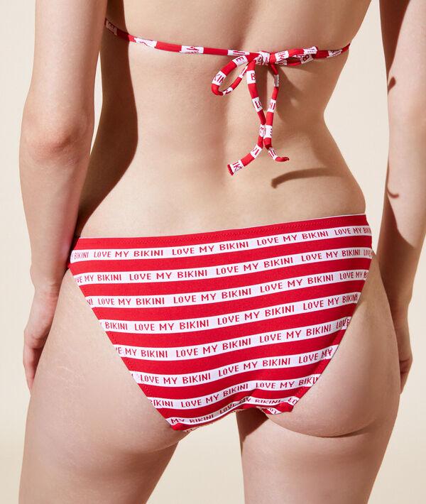 """Einfaches Bikiniunterteil """"love my bikini"""";${refinementColor}"""