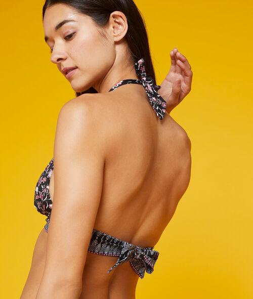 Haut de maillot de bain triangle, imprimé floral