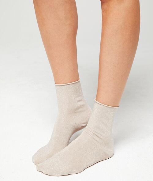 Kurze Socken mit Metallic-Fasern