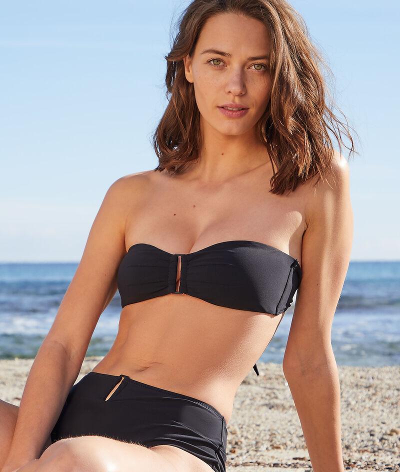 Bikini-Bandeau mit Schnalle ohne Bügel;${refinementColor}