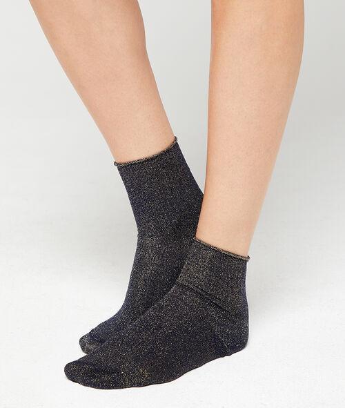 Chaussettes fil métallisé