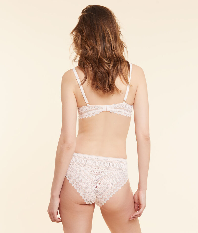 Panty mit hoher Taille aus Spitze;${refinementColor}