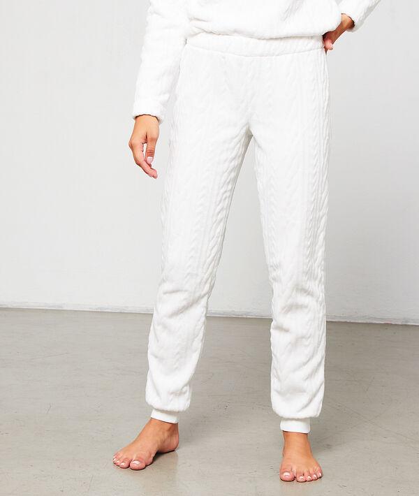 Pantalon effet torsadé