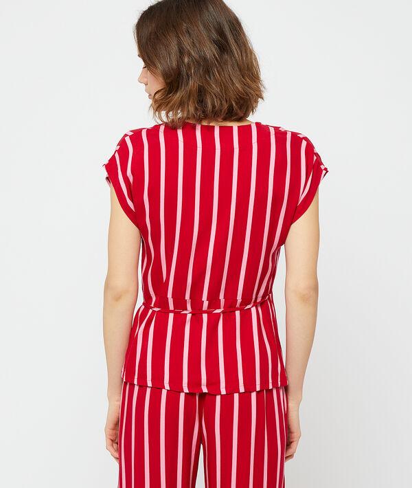 Chemisier de pyjama cache-cœur;${refinementColor}