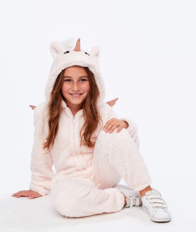 Combinaison pyjama licorne enfant rose.