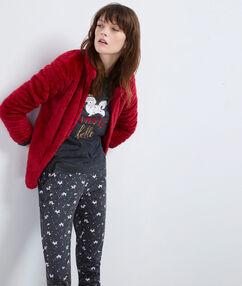 Pyjama 3 pièces rouge.
