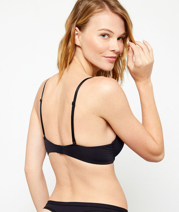 Soutien-gorge push-up plongeant en microfibre;${refinementColor}