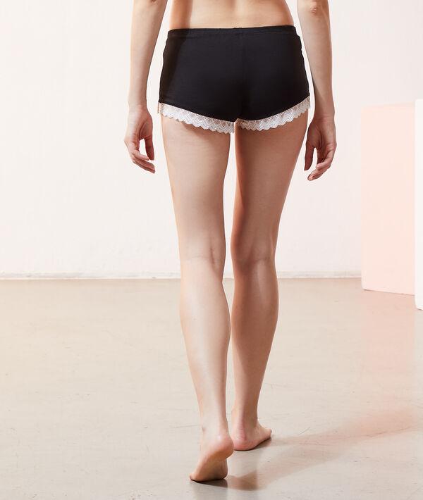 Pyjama-Shorts mit Spitzensaum;${refinementColor}