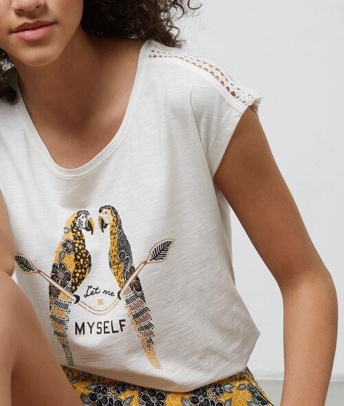 T- shirt imprimé à message