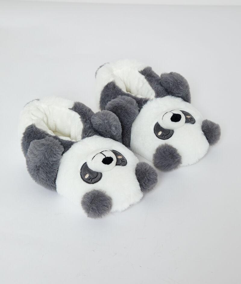 Pantoffeln 3D-Panda;${refinementColor}