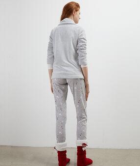 """Pyjama 3 pièces """"chic holidays"""" gris."""