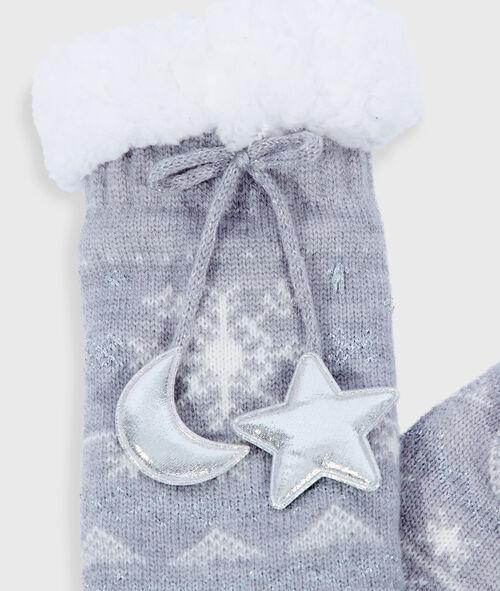 Chaussettes homewear nouées à motifs