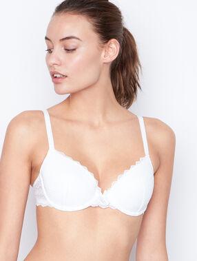 Soft bra: vorgeformter-bh aus spitze weiß.