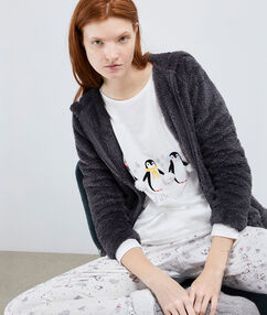 Pyjama 3 pièces anthracite.