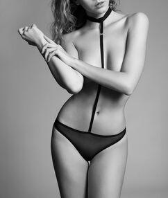 Body chocker tulle noir.