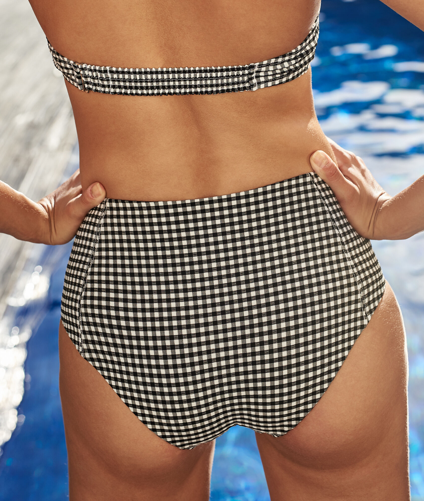 bas de bikini taille haute rachelle noir blanc etam
