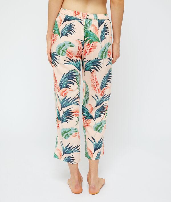 Pyjamahose aus EcoVero-Viscose, ausgestellte Beine;${refinementColor}