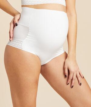Panty mit hoher Taille und umklappbarem Bauchband;${refinementColor}