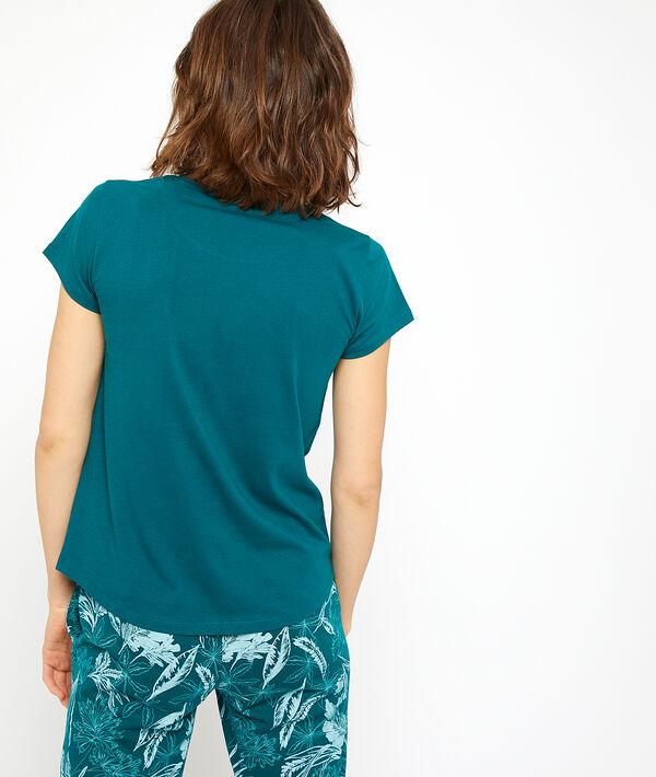 T-shirt imprimé perroquet;${refinementColor}